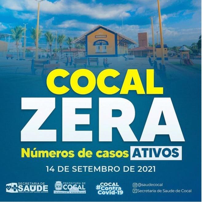 Cocal zera número de casos ativos da covid-19 no município