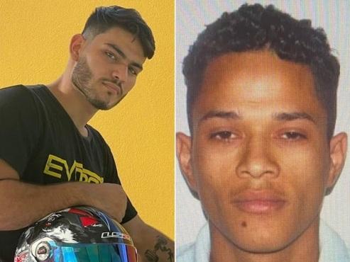 Polícia Caça os homicidas: o personal trainer Lyncon Jackson Silva Monteiro e o faccionado João Vitor dos Santos Feitosa, este com vasta ficha criminal
