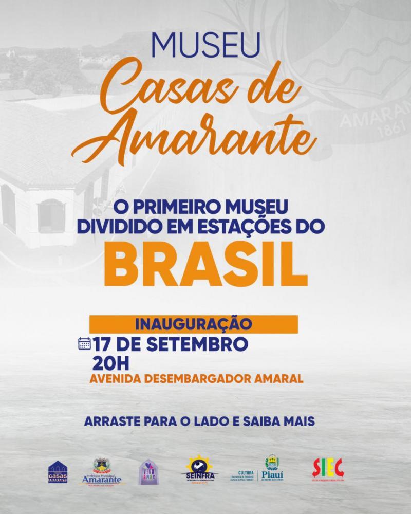 Museu Casas de Amarante será inaugurado nesta sexta-feira (17); confira