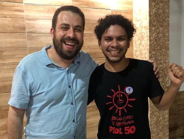Emerson Sammuel Araujo e o ex-candidato a presidente pelo Psol, Guilherme Boulos