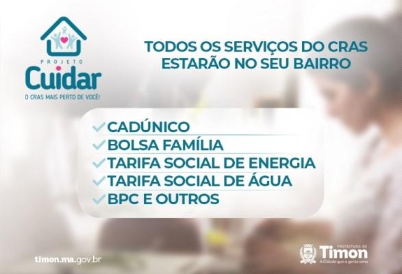 SEMDES/Timon leva Projeto Cuidar para o bairro Joia nesta sexta (17)