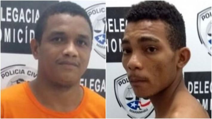Josué Santos da Silva e Anderson da Silva Pereira foram condenados pelo homicídio contra Geovane Barros Moreno — Foto: Divulgação/Polícia Civil