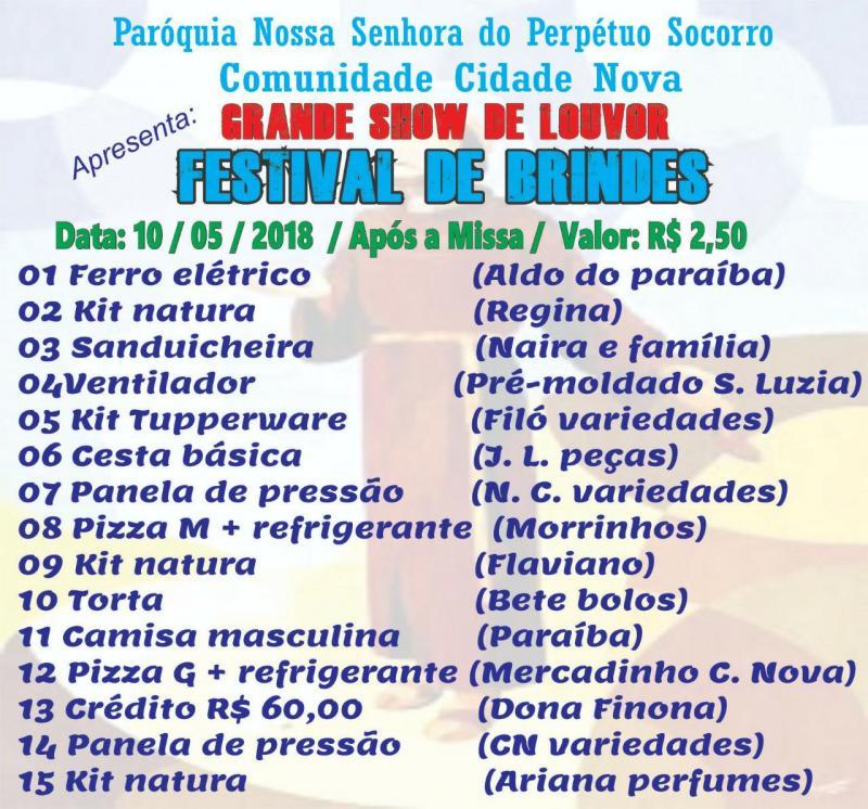 Comunidade 'Cidade Nova' em Demerval Lobão realizará show e festival de prêmios