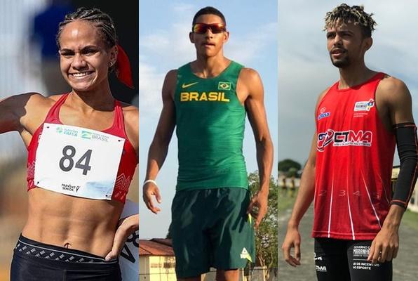 Letícia, João Henrique Falcão e Marcos Vinicius Moraes - Foto: Wagner Carmo/CBAt/Reprodução/Redes sociais