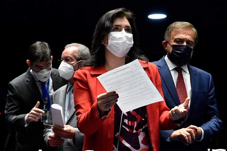 Relatora da PEC / Foto: Waldemir Barreto/Agência Senado