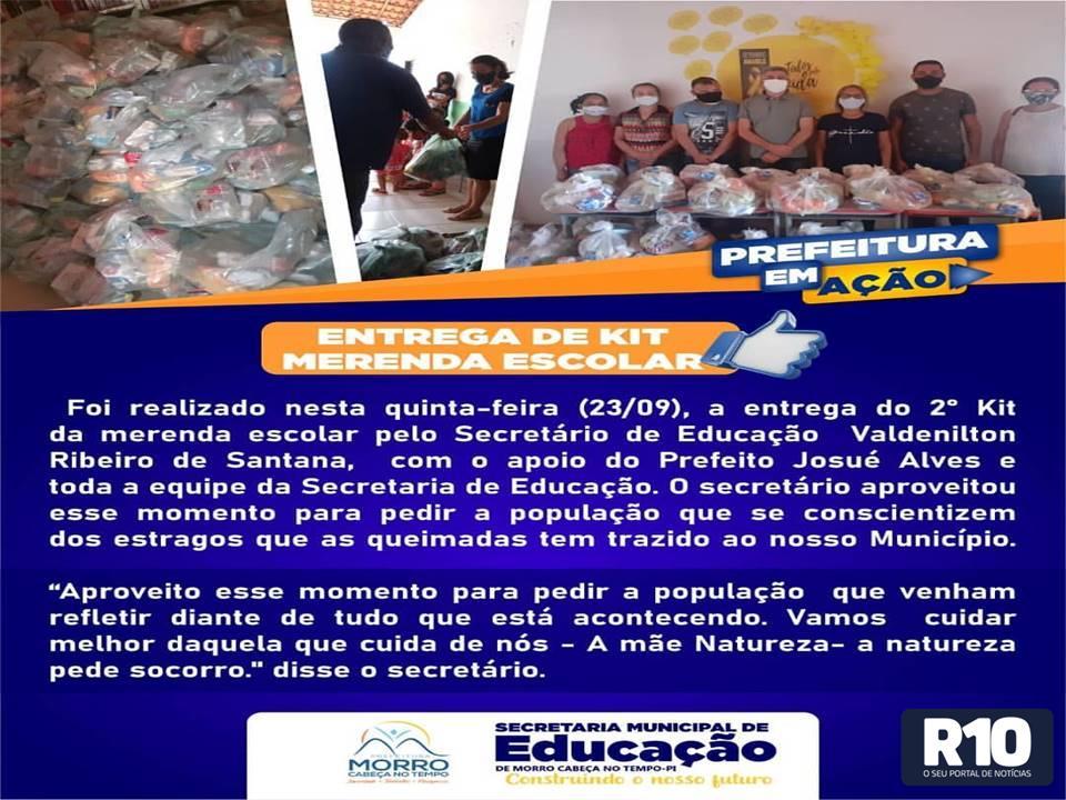 PMCT: Secretaria Municipal de Educação realiza a entrega do 2º kit alimentação neste dia 23/09