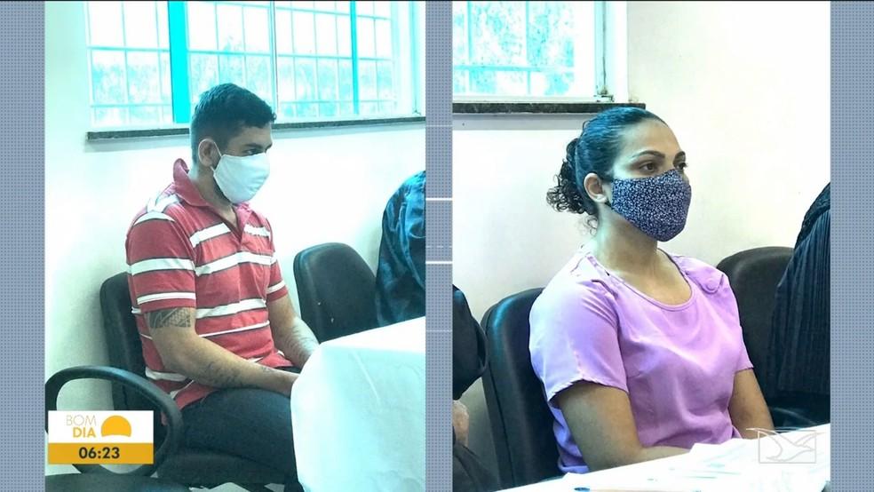 Franciane Lima da Rocha foi condenada a 28 anos e 10 meses de reclusão e Maylson Régis a 26 anos e quatro meses. — Foto: Reprodução/TV Mirante