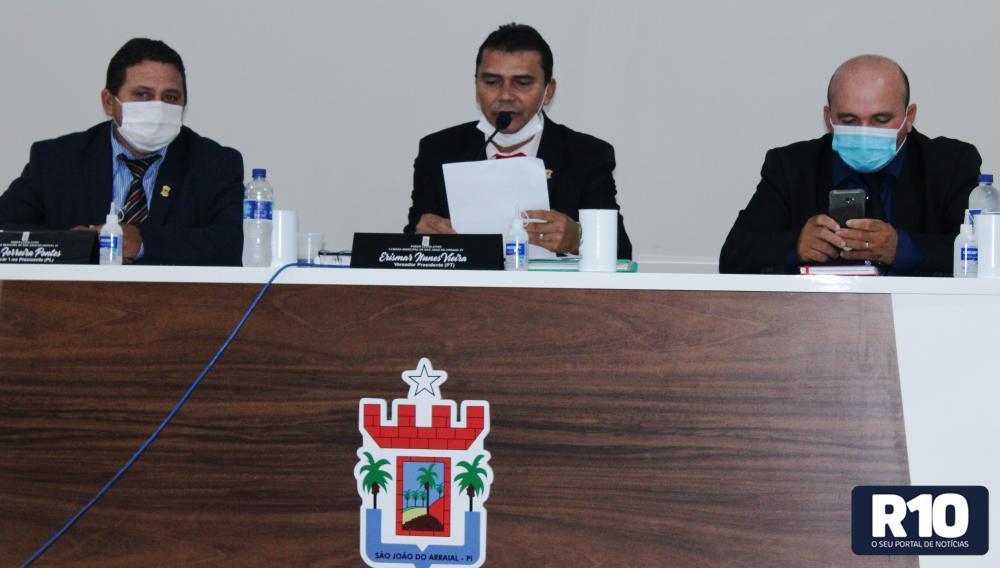 Câmara Municipal de São João do Arraial realizou sessão nessa sexta-feira (24)