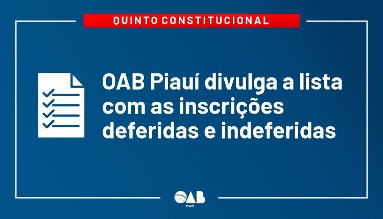 Quinto Constitucional: Divulgada lista com inscrições deferidas e indeferidas