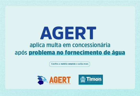 AGERT aplica multa em concessionária após problema no fornecimento de água em Timon