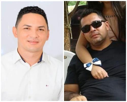 Candidatos Wilson Gomes e Cristiano Galdino