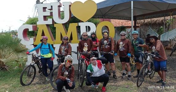 Às 10h24 o grupo ja estava em Campo Maior, como mostra o registro.