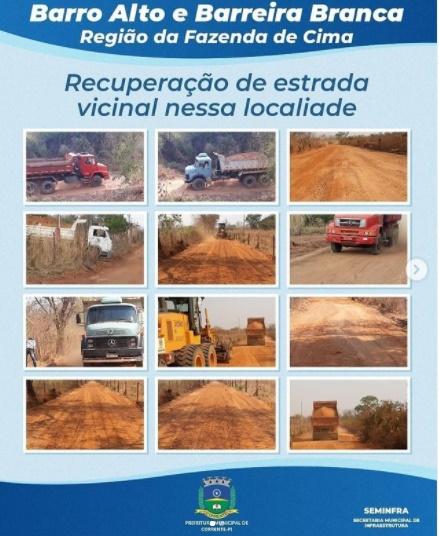 Prefeitura de Corrente recupera estradas vicinais em duas localidades