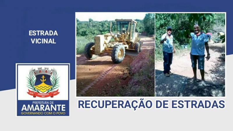 Prefeitura Municipal continua com reforma de estrada vicinal em Amarante