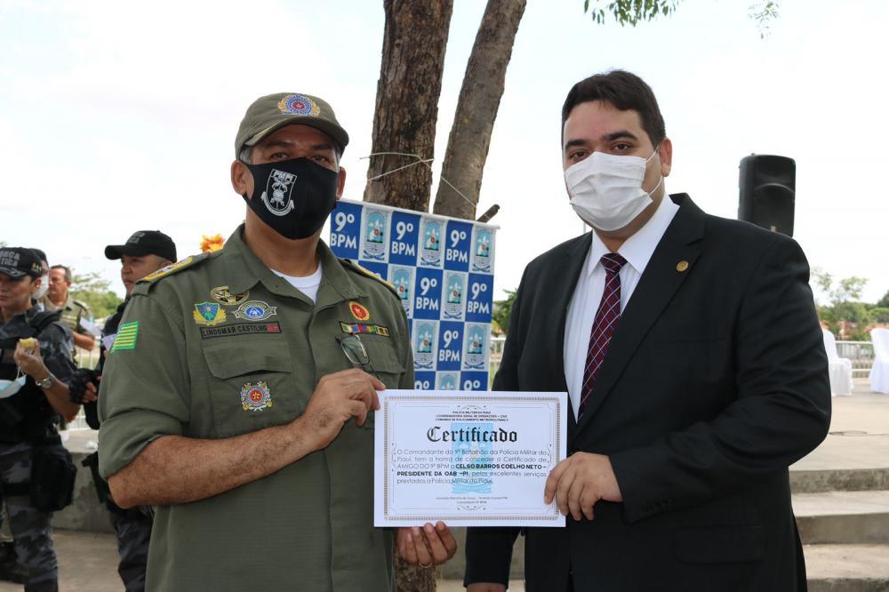 OAB Piauí é homenageada em comemoração pelos 23 anos do 9º BPM
