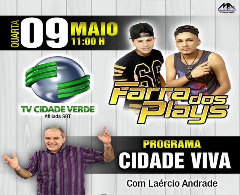 Banda Farra dos Plays estará no programa Cidade Viva, da TV Cidade Verde, nesta quarta (09)