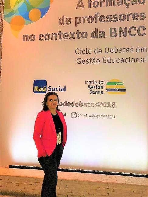Secretária de Educação de Joaquim Pires participa do Ciclo de Debates a formação de professores