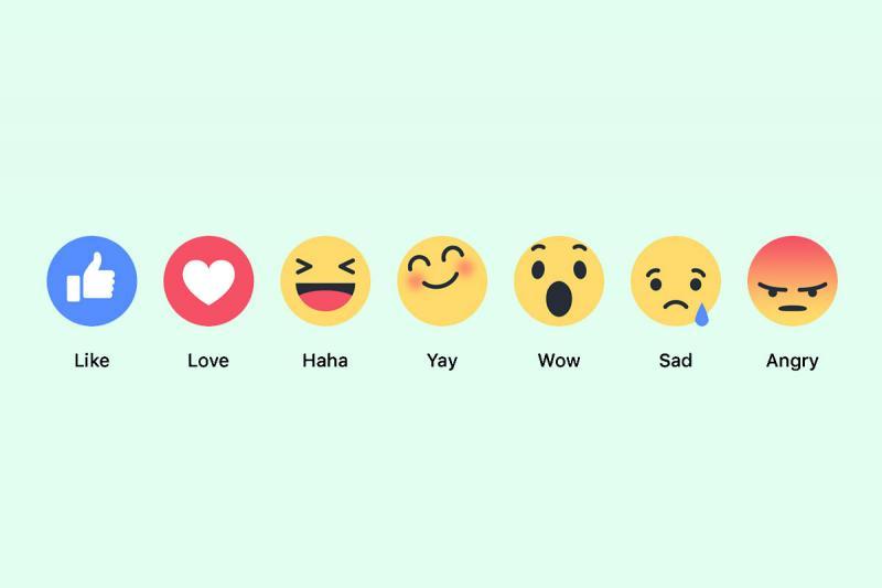 Facebook testa botão de reação e adesivo com rosto do usuário