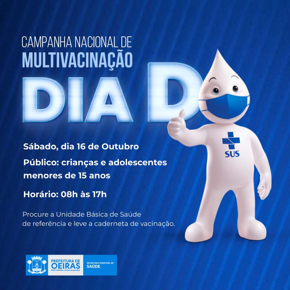Secretaria de Saúde realiza o Dia D da Campanha de Multivacinação em Oeiras
