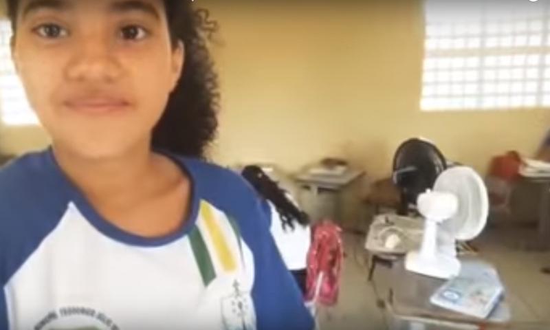 Alunos levam ventiladores de casa para escola em Piripiri