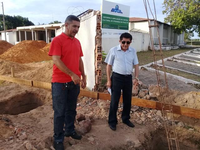 Prefeito Dr.Zé Maria Realizou Visita a as Obras de Construção do Centro Cultural