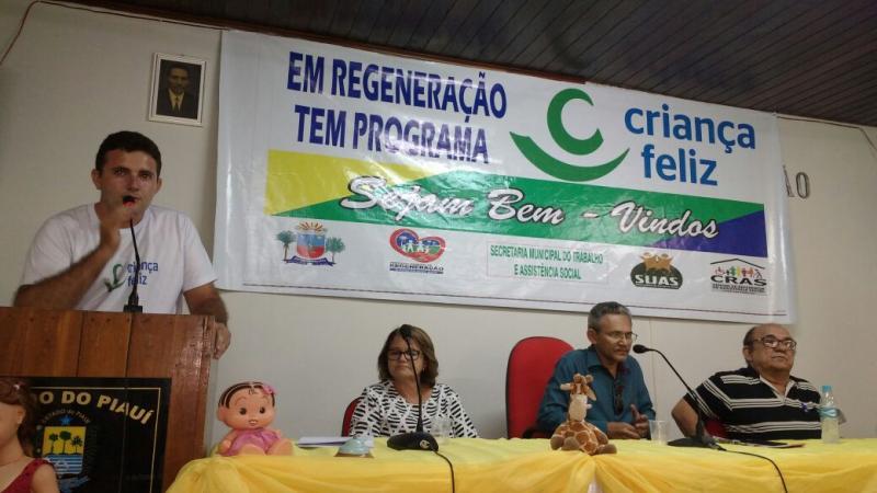 Programa Criança Feliz é lançado no município de Regeneração