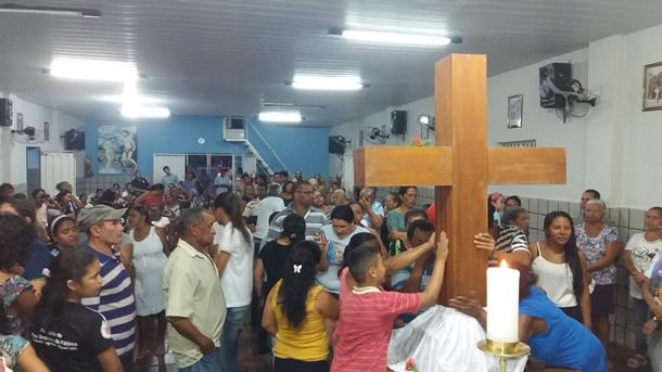 Confira como foi a vinda da imagem de Santa Cruz dos Milagres à Agricolândia