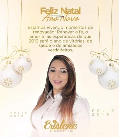 Vereadora Erislene Monteiro envia mensagens para população