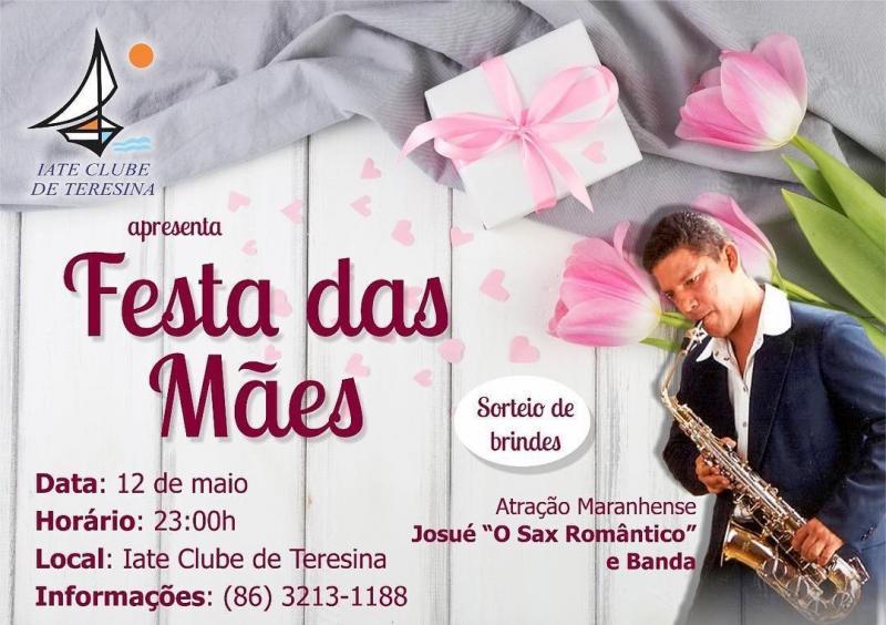 Josué, 'O Sax Romântico' e Banda na Festa das Mães do Iate