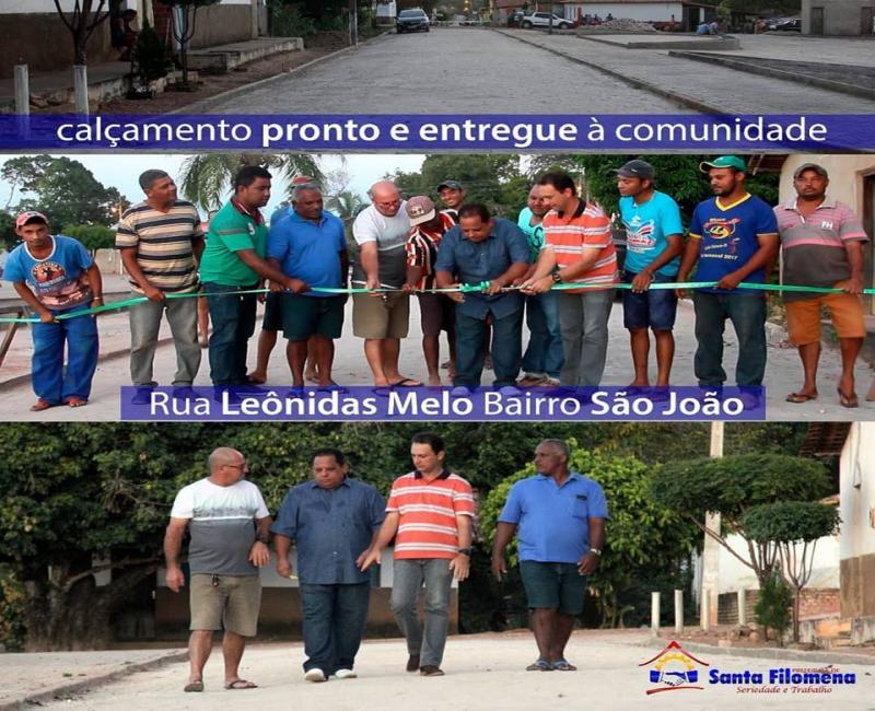 Prefeito entrega pavimentação no entorno da Praça do Bairro São João