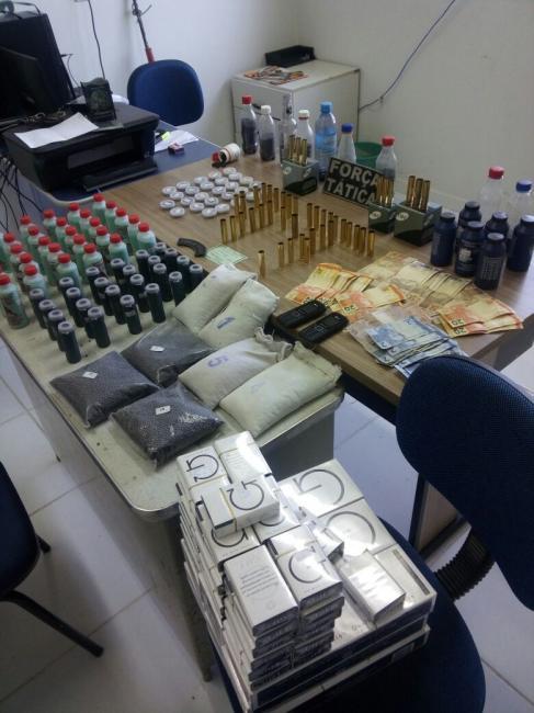 Força Tática apreende grande quantidade de munição e material de preparo em São Miguel do Fidalgo