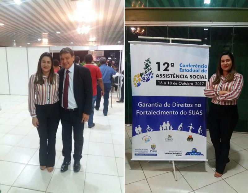 Secretária de Assistência Social de Uruçuí participa de conferência em Teresina