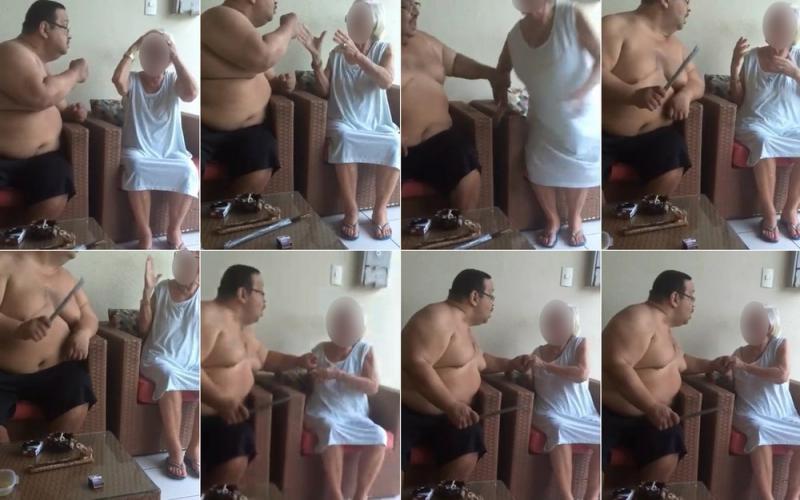Justiça condena homem flagrado agredindo a mãe idosa a 10 anos de prisão