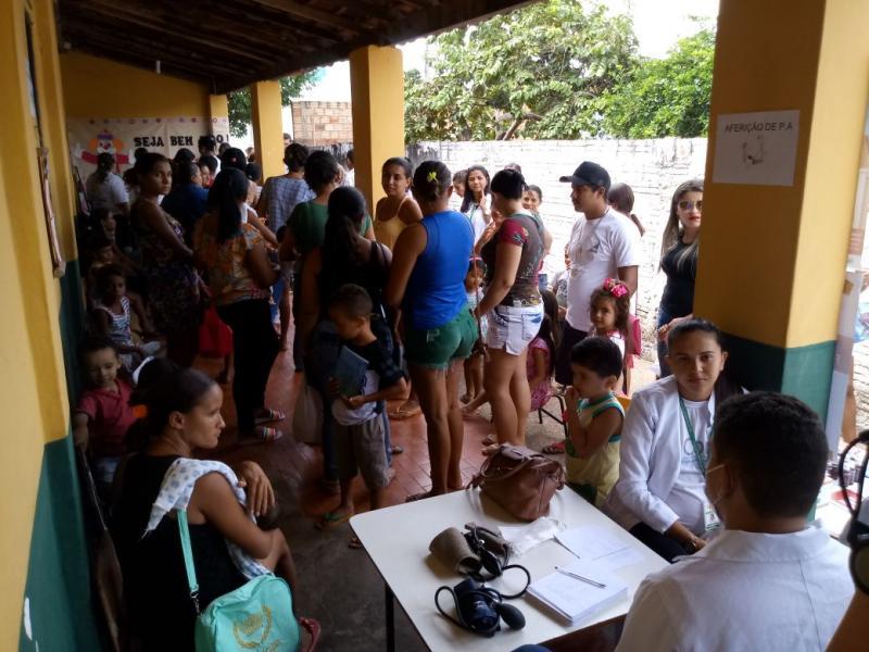 Prefeitura de Altos promove ações de saúde para a comunidade na Creche Os Baixinhos
