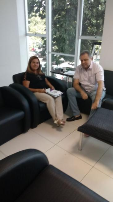 Prefeita Vilma Lima participou de reunião com o Secretário Estadual de Saúde