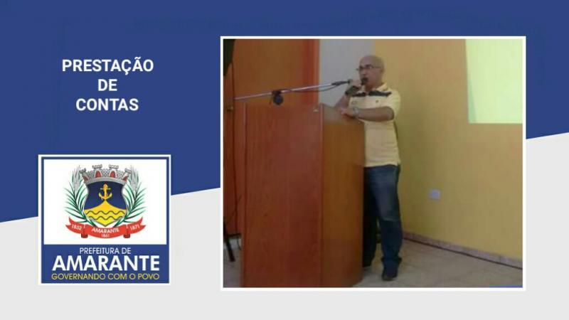 Prestação de contas da prefeitura Municipal de Amarante