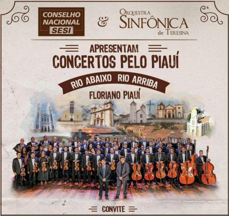 Orquestra Sinfônica de Teresina se apresentará em Floriano neste sábado (21)