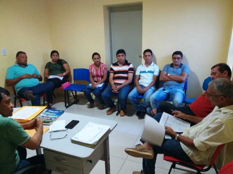 Prefeito Aurélio Sá se reúne com equipe para tratar do ICMS ecológico