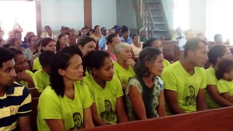 Muita emoção na visita e celebração de sétimo dia de Nilzete Moura