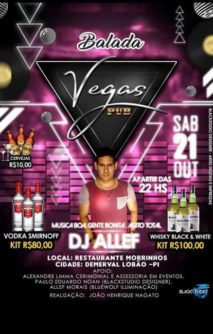 I Balada Vegas Pub no Restaurante e Pizzaria Morrinhos em Demerval Lobão (PI)
