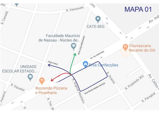 Semáforo no cruzamento da Rua Chile com Gil Martins começa a funcionar