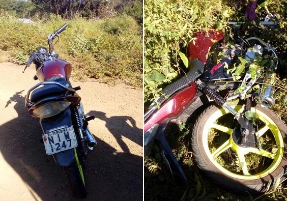 Moto furtada em Água Branca é encontrada por vaqueiros em Agricolândia