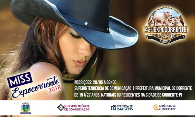 Prefeitura Municipal de Corrente lança 2° edição do concurso Miss Expocorrente