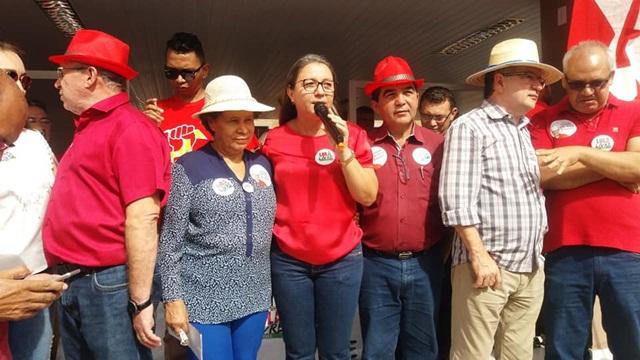 Poucas pessoas participam da Caravana Lula Livre em Esperantina