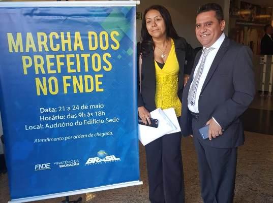 Na marcha dos prefeitos em Brasília, prefeita Doquinha leva reivindicações do seu município