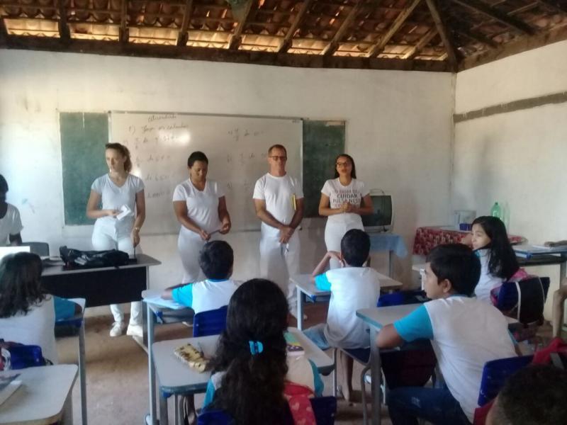 Escola Municipal Tia Edinha recebe profissionais do Programa Saúde na Escola