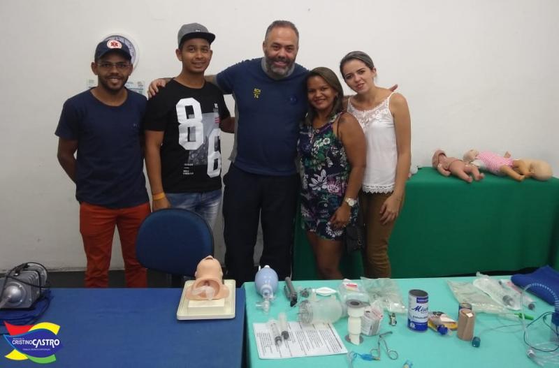 Equipe do SAMU de Cristino Castro participou do treinamento de Transporte do Recém-Nascido