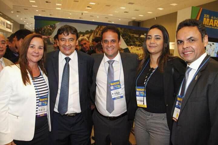Prefeito Diego Teixeira e governador Wellington Dias na XXI Marcha em defesa dos Municípios