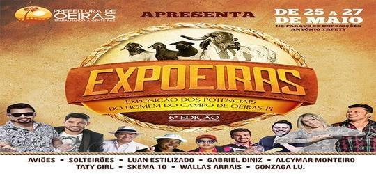 EXPOEIRAS começa nesta sexta-feira (25) com shows de Aviões, Zé Cantor e Luan Estilizado