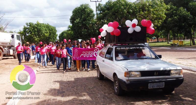 Pau D'arco do Piauí realiza caminhada 'Outubro Rosa'